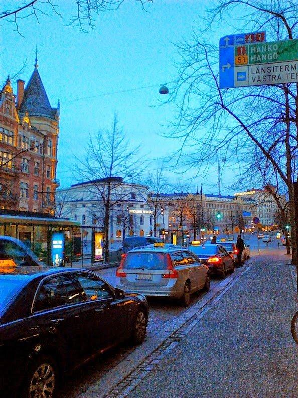 Вечер в столице Финляндии