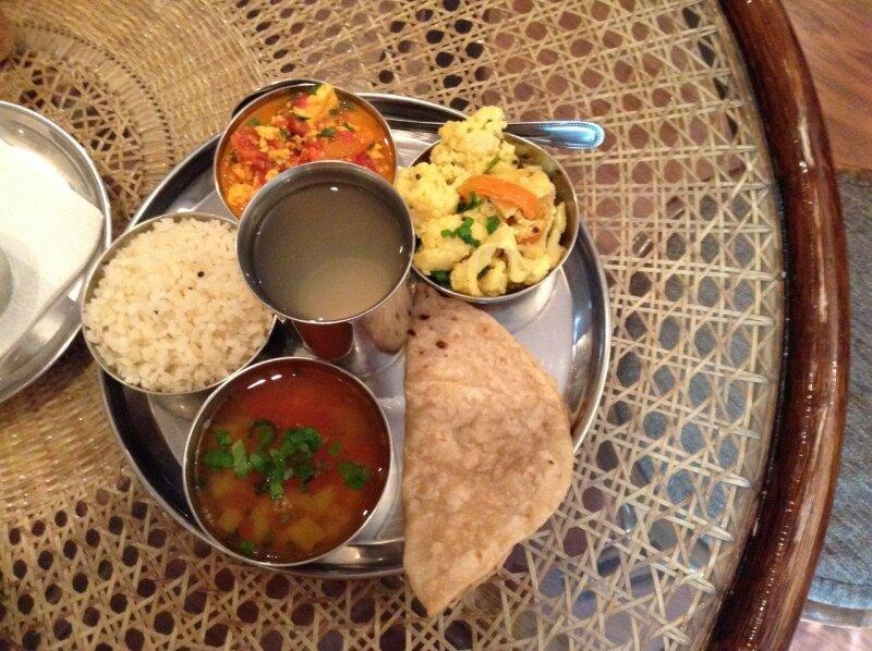 Обед в Govindas