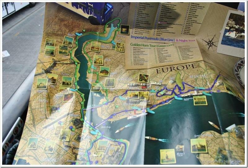 Карта маршрутов City Windows Travel (Hop On - Hop Off)
